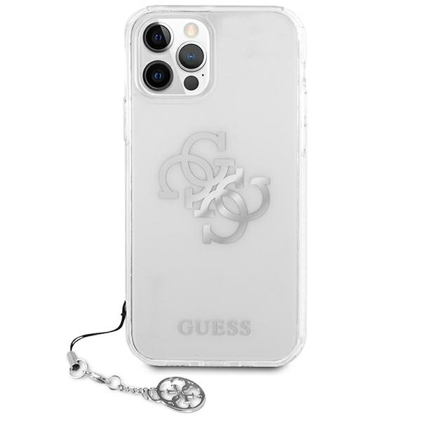 iphone 12 pro max - guess guhcp12lks4gsi apple iphone 12 pro max transparent hardcase 4g silver charms collection - 3 - krytarna.cz