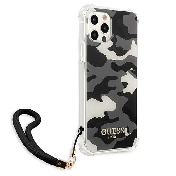 iphone 12 pro max - guess guhcp12lksarbk apple iphone 12 pro max black hardcase camo collection - 4 - krytarna.cz
