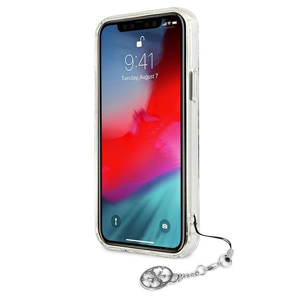 iphone 12 pro max - guess guhcp12lks4gsi apple iphone 12 pro max transparent hardcase 4g silver charms collection - 5 - krytarna.cz