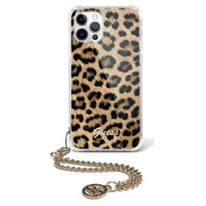 iPhone 12 Pro - Guess GUHCP12MKSLEO Apple iPhone 12/12 Pro Leopard hardcase Gold Chain - 1 - krytarna.cz