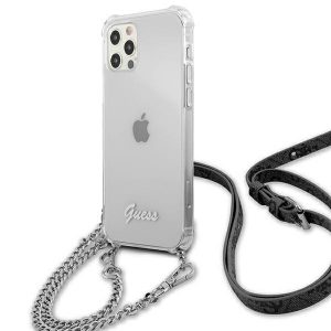 iPhone 12 Pro - Guess GUHCP12MKC4GSSI Apple iPhone 12/12 Pro Transparent hardcase 4G Silver Chain - 2 - krytarna.cz