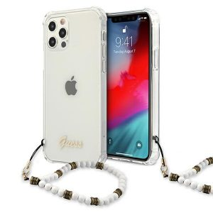iPhone 12 Pro - Guess GUHCP12MKPSWH Apple iPhone 12/12 Pro Transparent hardcase White Pearl - 1 - krytarna.cz