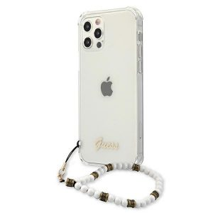 iPhone 12 Pro - Guess GUHCP12MKPSWH Apple iPhone 12/12 Pro Transparent hardcase White Pearl - 2 - krytarna.cz