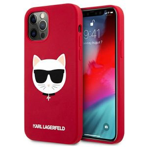 iPhone 12 Pro Max - Karl Lagerfeld KLHCP12LSLCHRE Apple iPhone 12 Pro Max hardcase red Silicone Choupette - 1 - krytarna.cz