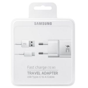 Wall Chargers - Samsung Charger EP-TA20EWEC blister fast charge USB-C white - 1 - krytarna.cz