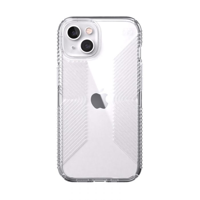 speck presidio perfect-clear grips microban apple iphone 13 (clear) - export 10645