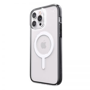 iPhone 13 Pro Max - Speck Presidio Perfect-Clear Impact Geometry MagSafe MICROBAN Apple iPhone 13 Pro Max (Clear/Black) - 1 - krytarna.cz