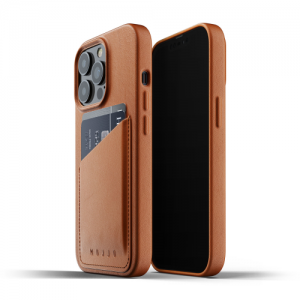iPhone 13 Pro Max - Mujjo Full Leather Wallet Case Apple iPhone 13 Pro Max (brown) - 1 - krytarna.cz