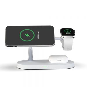 Wireless chargers - Tech-protect A12 3in1 Magnetic Magsafe Wireless Charger White - 2 - krytarna.cz