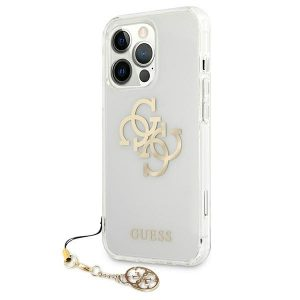 iPhone 13 Pro - Guess GUHCP13LKS4GGO Apple iPhone 13 Pro Transparent hardcase 4G Gold Charms Collection - 2 - krytarna.cz