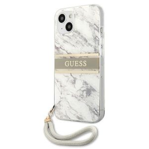 iPhone 13 - Guess GUHCP13MKMABGR Apple iPhone 13 grey hardcase Marble Strap Collection - 2 - krytarna.cz