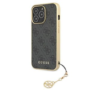 iPhone 13 Pro Max - Guess GUHCP13XGF4GGR Apple iPhone 13 Pro Max grey hardcase 4G Charms Collection - 2 - krytarna.cz