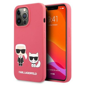 iPhone 13 Pro Max - Karl Lagerfeld KLHCP13XSSKCP Apple iPhone 13 Pro Max hardcase pink Silicone Karl & Choupette - 1 - krytarna.cz