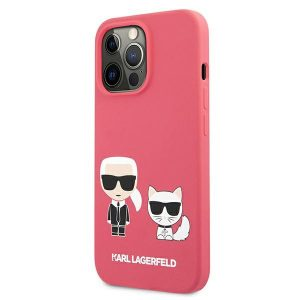 iPhone 13 Pro Max - Karl Lagerfeld KLHCP13XSSKCP Apple iPhone 13 Pro Max hardcase pink Silicone Karl & Choupette - 2 - krytarna.cz
