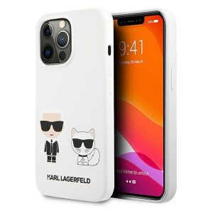 iPhone 13 Pro Max - Karl Lagerfeld KLHCP13XSSKCW Apple iPhone 13 Pro Max hardcase white Silicone Karl & Choupette - 1 - krytarna.cz