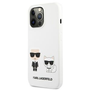 iPhone 13 Pro Max - Karl Lagerfeld KLHCP13XSSKCW Apple iPhone 13 Pro Max hardcase white Silicone Karl & Choupette - 2 - krytarna.cz