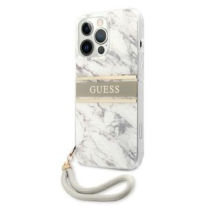 iPhone 13 Pro Max - Guess GUHCP13XKMABGR Apple iPhone 13 Pro Max grey hardcase Marble Strap Collection - 2 - krytarna.cz
