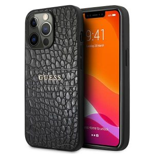 iPhone 13 Pro Max - Guess GUHCP13XPCRBBK Apple iPhone 13 Pro Max black Croco Strap Collection - 1 - krytarna.cz